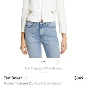 Ted Baker Taahara Cropped Textured Jacket